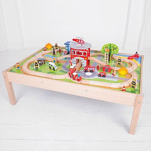 Big Jigs – Fire Station Train Set and Table