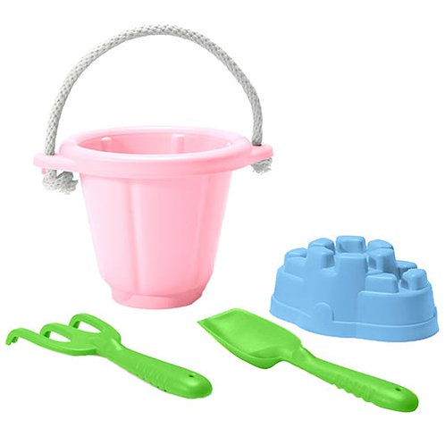 Green Toys – Sand Play Set (Pink Bucket)