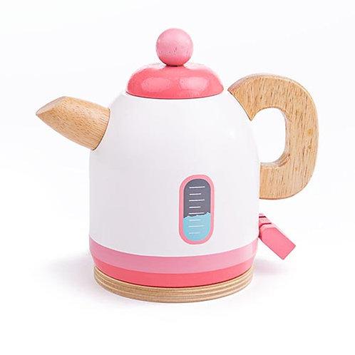 Bigjigs – Pink Wooden Kettle