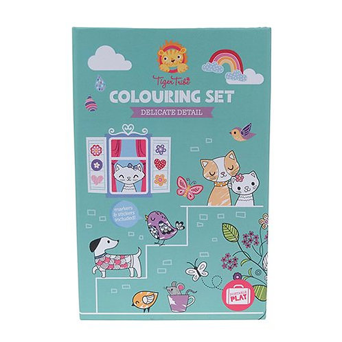 Tiger Tribe – Colouring Set – Delicate Detail