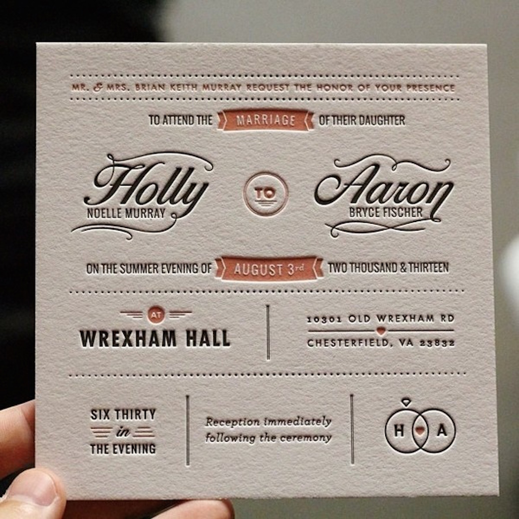 Debossed Business Cards