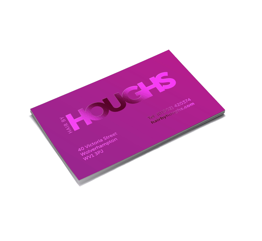 Metal Foiling Business cards