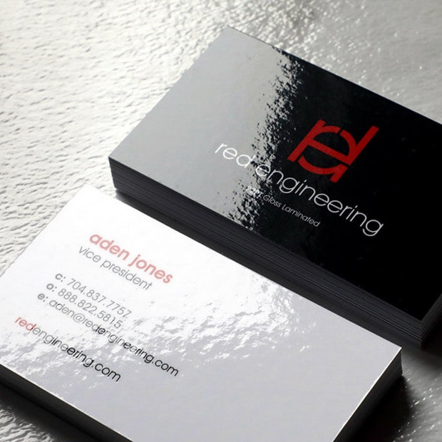 Gloss Laminated business Cards