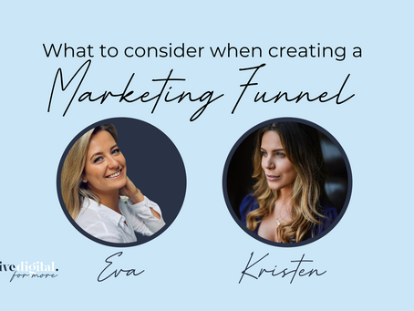What to consider when setting up a Marketing Funnel with Kristen Bertolini