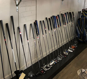 Putters for sale at Newcastle Golf Practice Centre