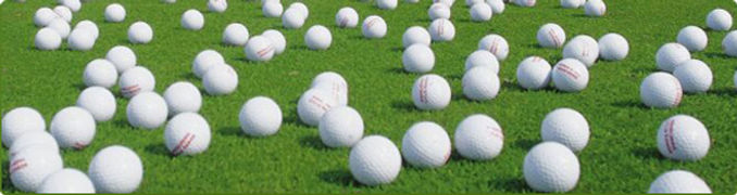 Golf Balls At Newcastle Golf Practice Centre