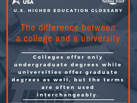 U.S. Higher Education Glossary: College & University