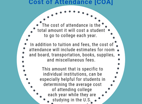 U.S. Higher Education Glossary: The Cost of Attendance (COA)