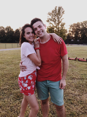 On set with Bailee Madison A Week Away