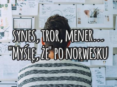 "Synes, tror, mener... ""Myślę, że"" po norwesku"