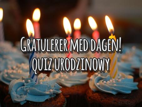 Gratulerer! Quiz urodzinowy