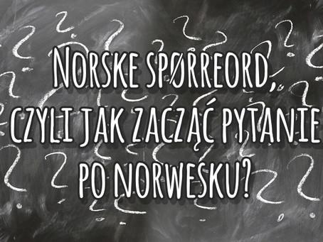 Norske spørreord, czyli jak zacząć pytanie?