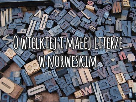 O wielkiej i małej literze w norweskim