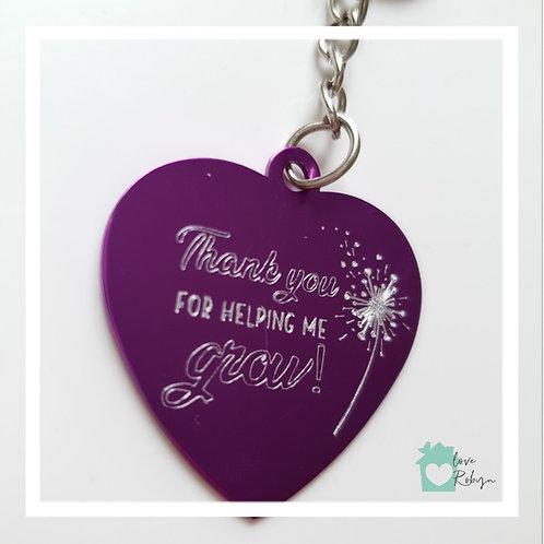 Engraved Heart Keyring