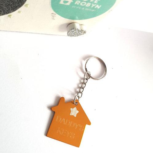 Engraved House Keyring