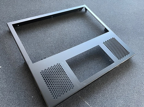 Stern style solid steel back glass surround for virtual pinball projects