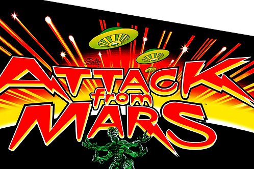 Attack from Mars Pinball Photoshop Files