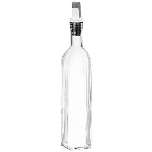 Jeanzer Olive Oil Dispenser & Vinegar Cruet, 17 Oz Glass Oil Bottle.