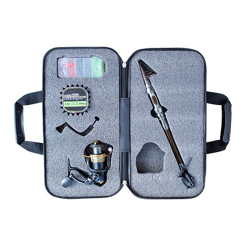 NetAngler Spinning Fishing Combo Telescopic Fishing Rod and Reel Kit