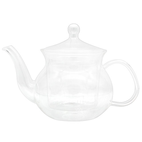 Jeanzer Clear Glass Teapot Heat Resistant Teapots 600 ml /20.3 oz with Infuser