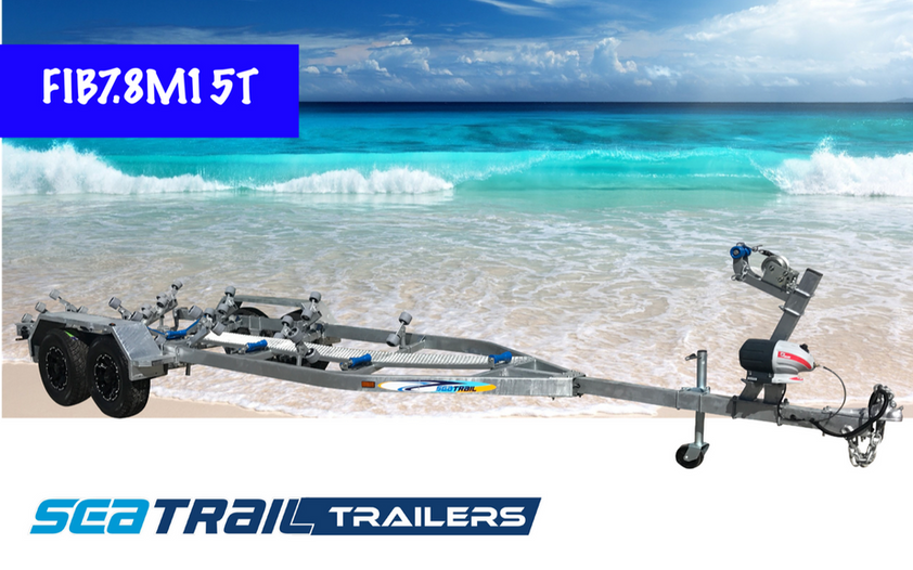 SEATRAIL FIB7.8M15T 3500KG RATED ROLLERED BOAT TRAILER
