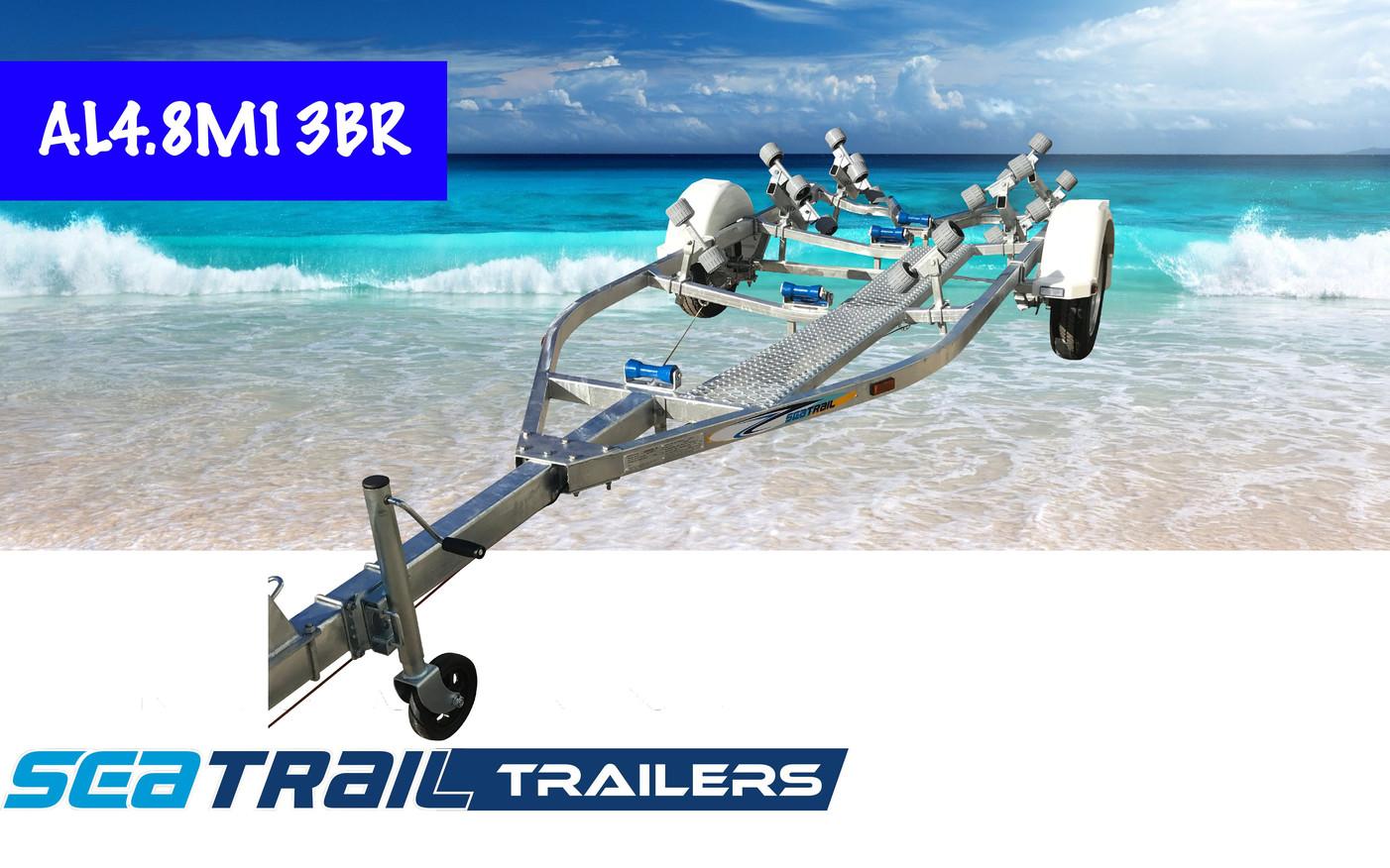 SEATRAIL AL4.8M13BR BRAKED ROLLERED BOAT TRAILER
