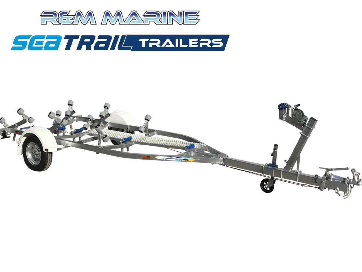 SEATRAIL 4.8M BRAKED ROLLERED BOAT TRAILER