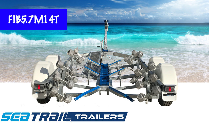 SEATRAIL FIB5.7M14T DELUXE TANDEM ROLLERED BOAT TRAILER