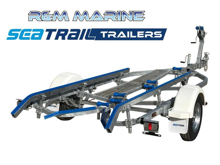 SEATRAIL 4.8M BRAKED SKID BOAT TRAILER