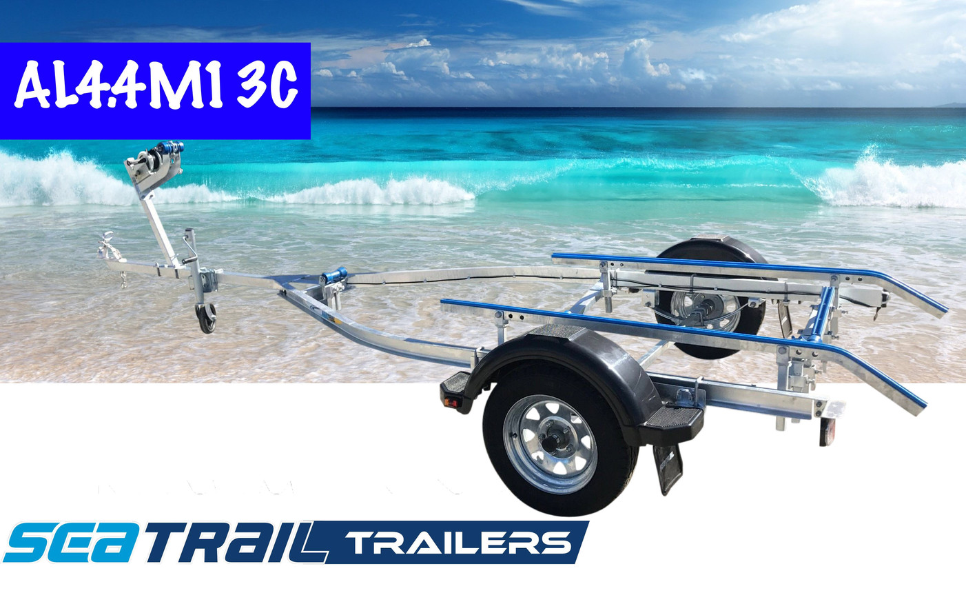 SEATRAIL AL4.4M13C C-CHANNEL BOAT TRAILER