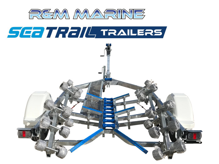 SEATRAIL 5M H/D DELUXE ROLLERED BOAT TRAILER