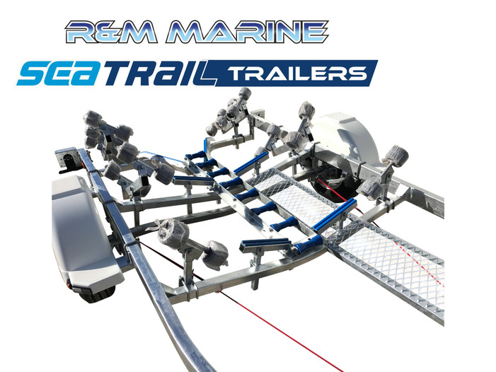 SEATRAIL 5.5M DELUXE ROLLERED BOAT TRAILER