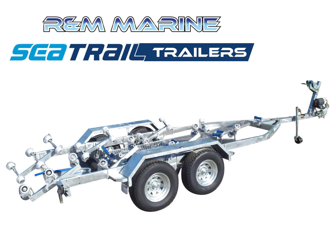 SEATRAIL 6.4M 3500KG RATED ROLLERED BOAT TRAILER