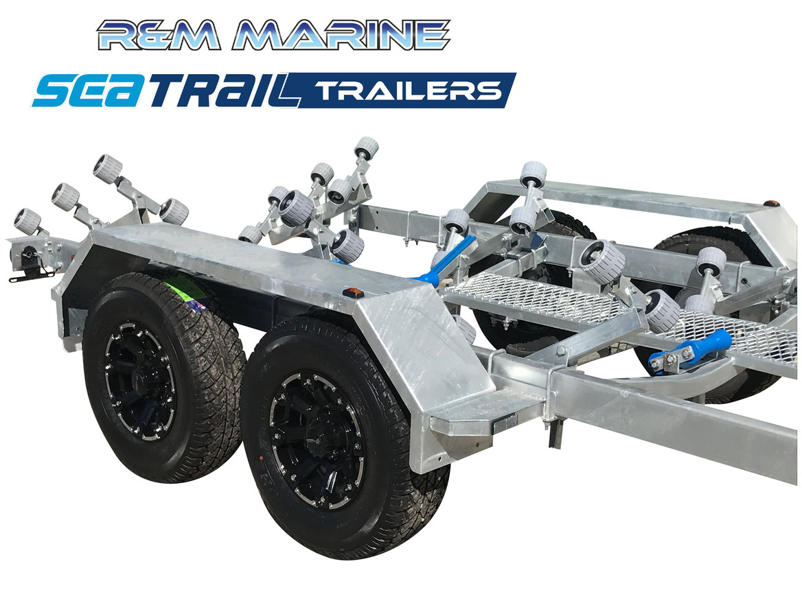 SEATRAIL 7.5M 3500KG RATED ROLLERED BOAT TRAILER