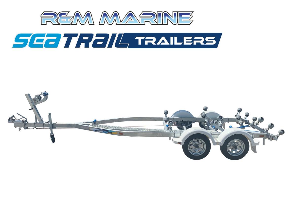 SEATRAIL 5.6M TANDEM ROLLERED BOAT TRAILER