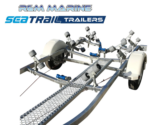 SEATRAIL 4.8M BRAKED ROLLERED BOAT TRAILER