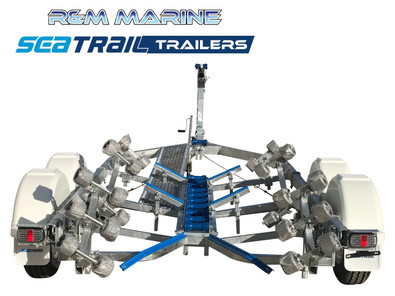 SEATRAIL 5.7M DELUXE TANDEM ROLLERED BOAT TRAILER