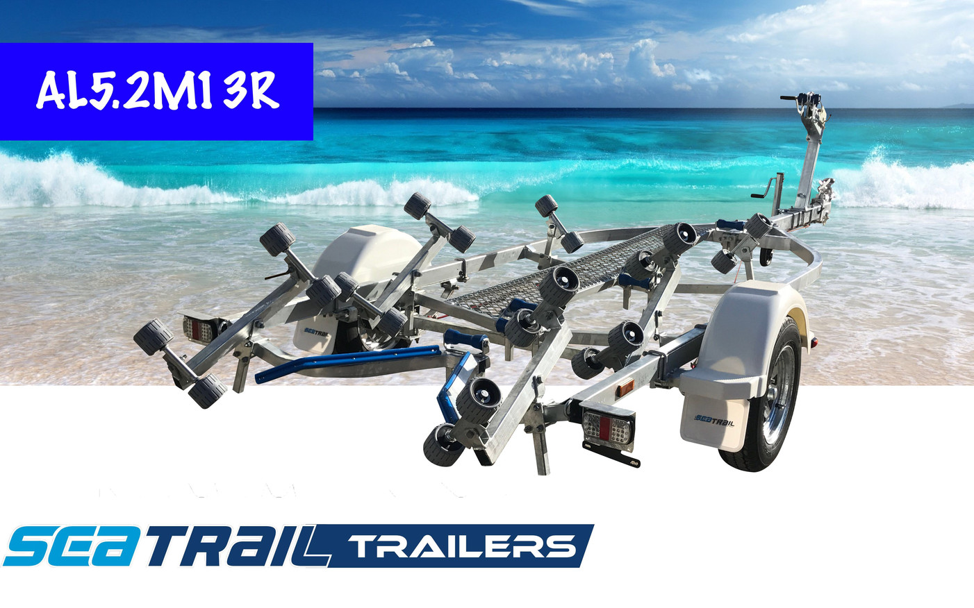 SEATRAIL AL5.2M13R ROLLERED BOAT TRAILER