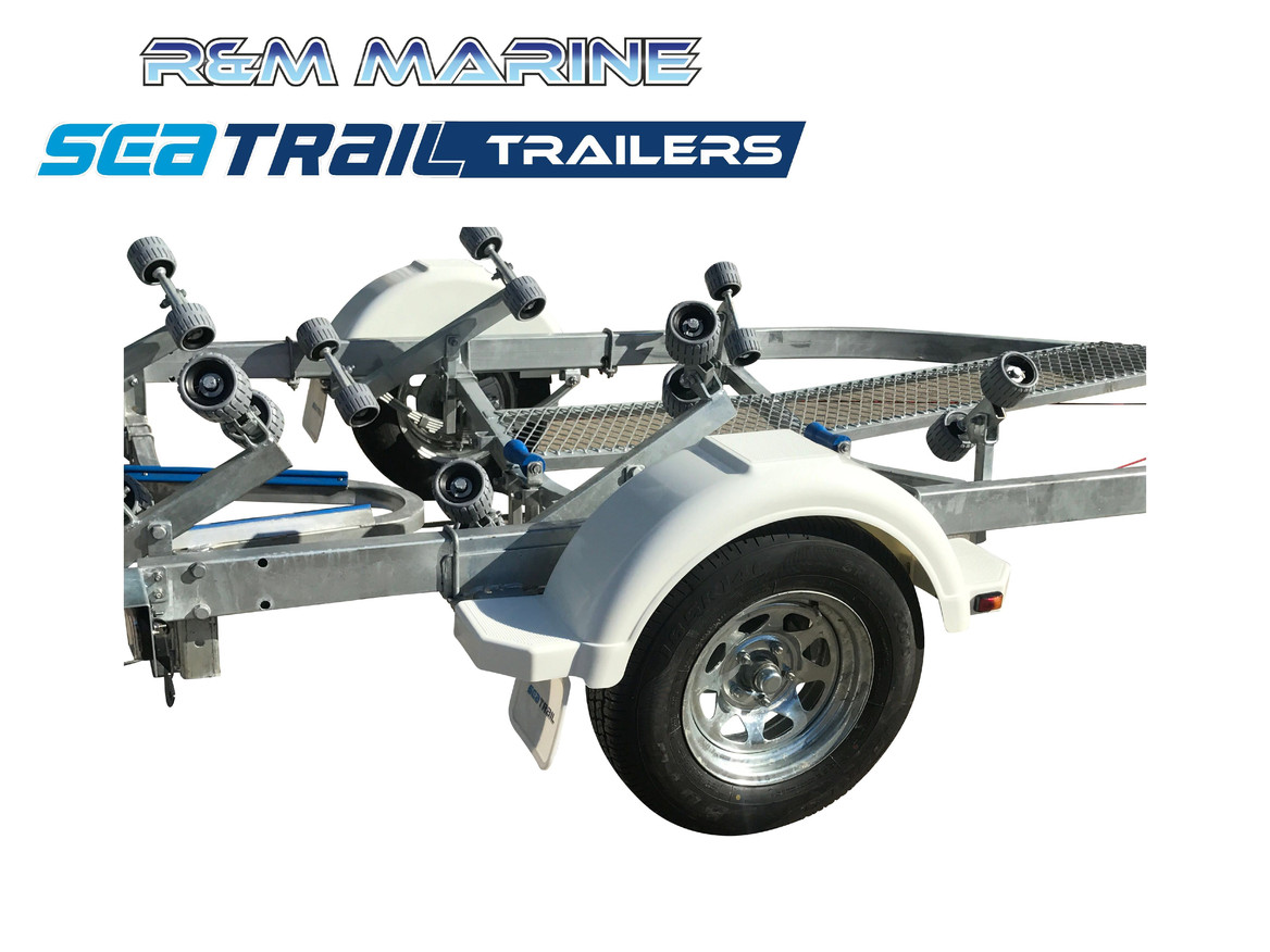 SEATRAIL 5M H/D ROLLERED BOAT TRAILER