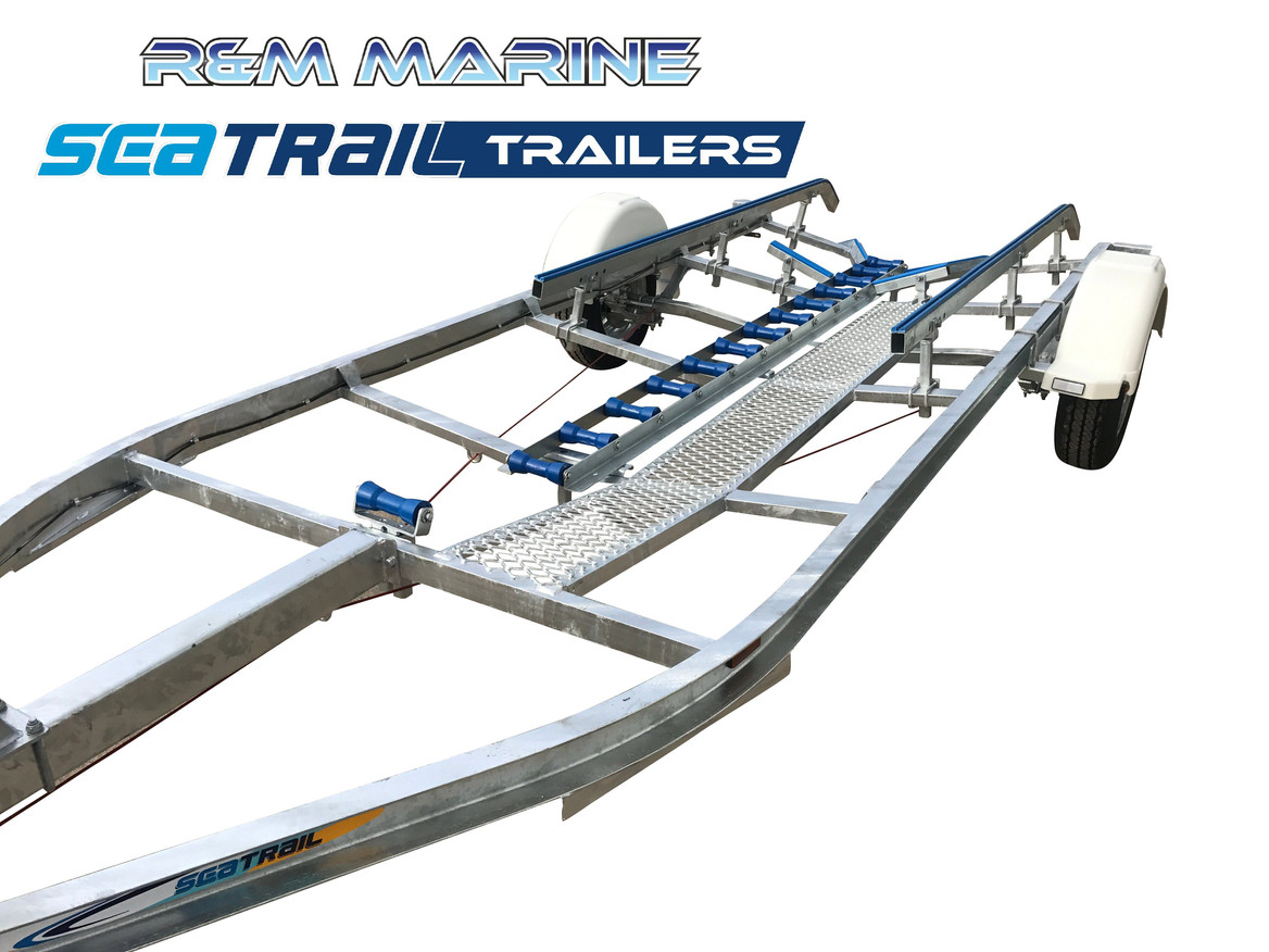 SEATRAIL 5.5M C-CHANNEL SKID BOAT TRAILER