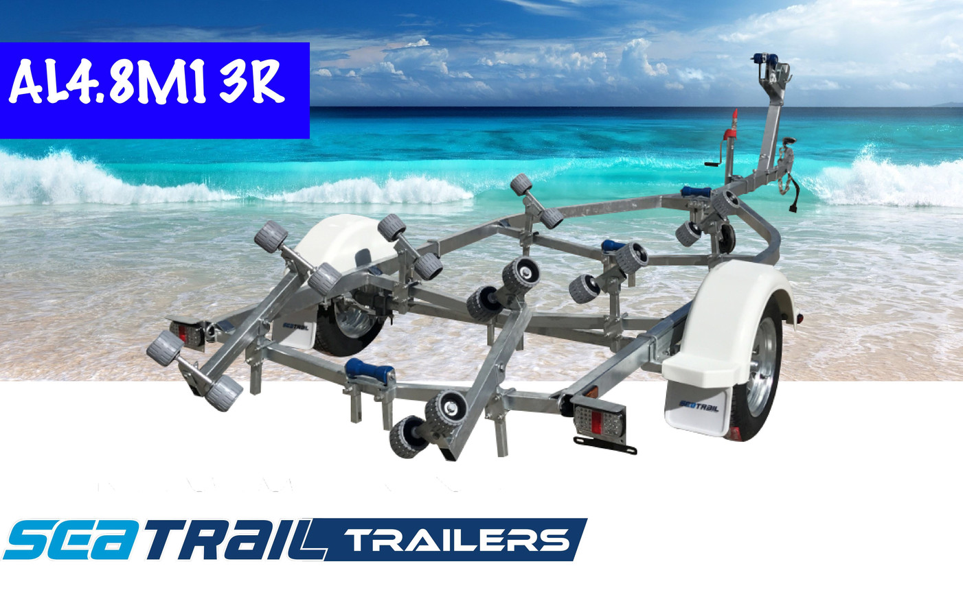 SEATRAIL AL4.8M13R ROLLERED BOAT TRAILER