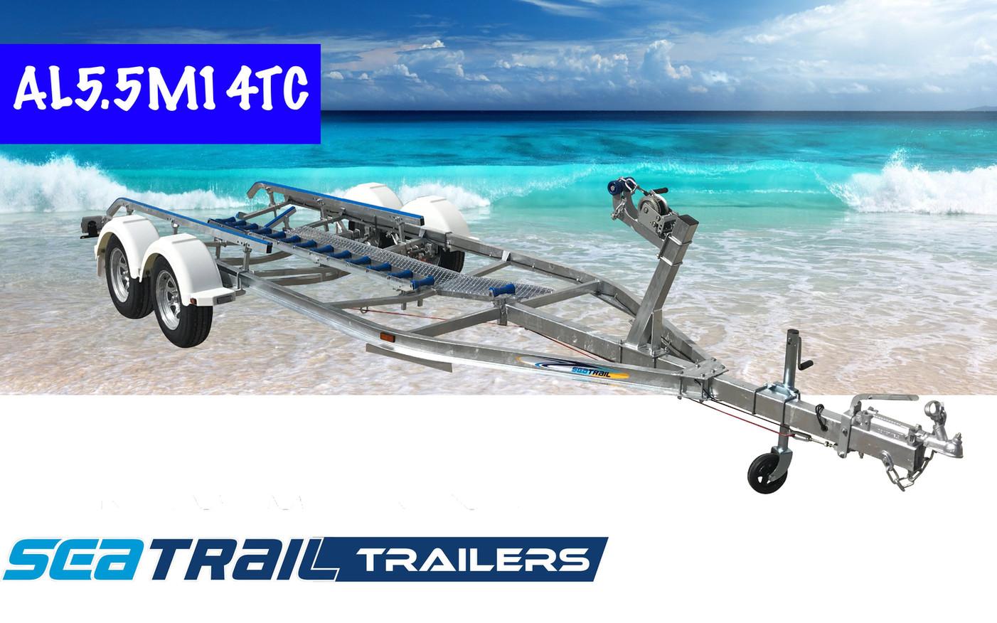 SEATRAIL AL5.5M14TC C-CHANNEL TANDEM SKID BOAT TRAILER