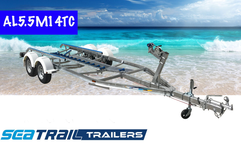 SEATRAIL AL5.5M14TC C-CHANNEL TANDEM SKID BOAT TRAILER
