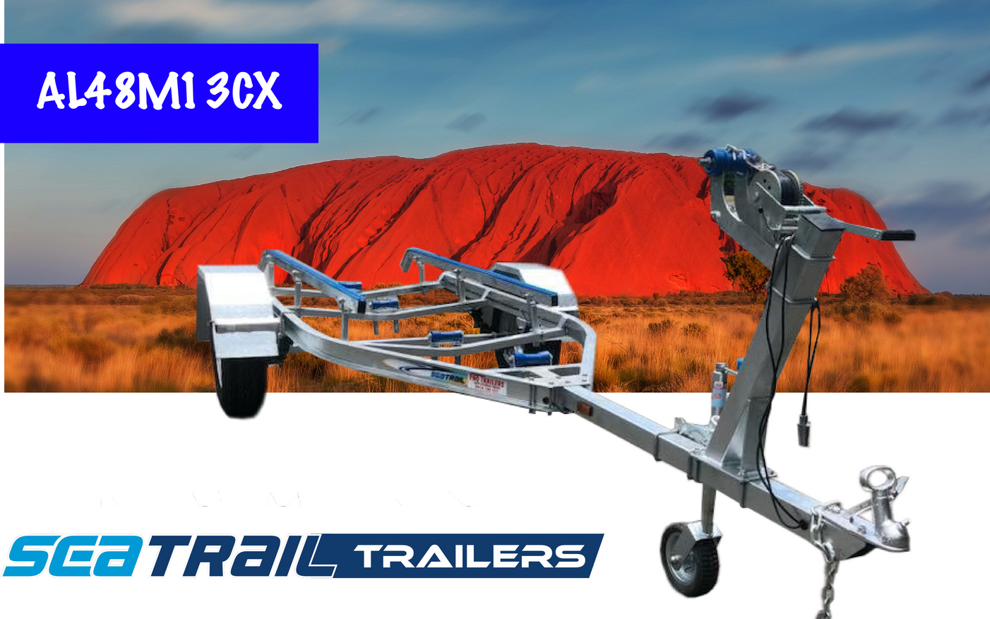 SEATRAIL AL4.8M15CX 4X4 SKID C-CHANNEL BOAT TRAILER