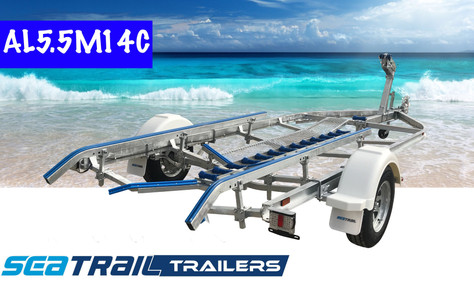 SEATRAIL AL5.5M14C C-CHANNEL SKID BOAT TRAILER