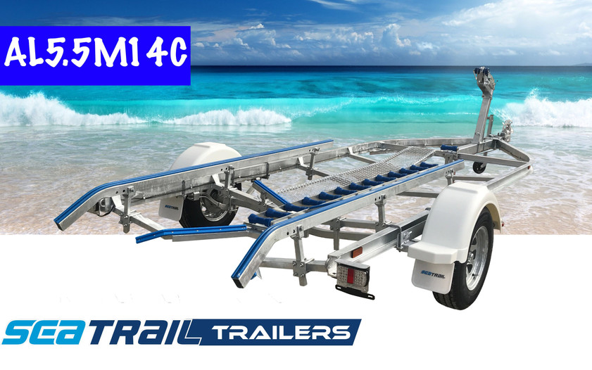 SEATRAIL AL5.5M14C C-CHANNEL SKID BOAT TRAILER