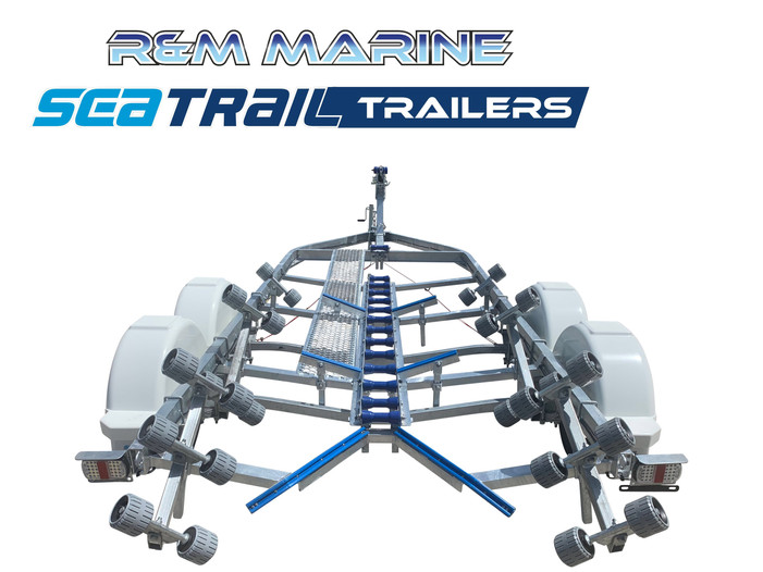 SEATRAIL 5.5M C-CHANNEL TANDEM ROLLERED BOAT TRAILER