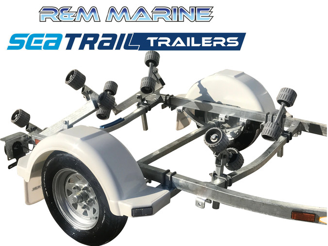 SEATRAIL 3.8M ROLLERED BOAT TRAILER