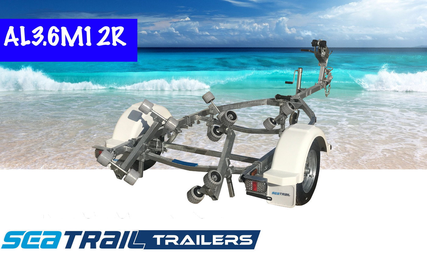 SEATRAIL AL3.8M12R ROLLERED BOAT TRAILER