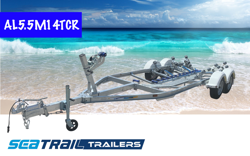 SEATRAIL AL5.5M14TCR C-CHANNEL TANDEM ROLLERED BOAT TRAILER